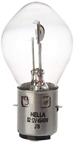 HELLA 8GD 002 084-151 Lámpara - S2 - Standard - 12V - 45/40W - Tipo de portalámpara: BA20d - caja - Cant.: 1