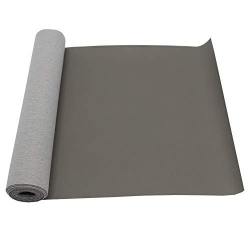 """Cuero Imitación Tela PU 8""""x 47"""", Polipiel para tapizar, Tela sintética con patrón litchi para reparación de sofás Costura Elaboración Proyectos de bricolaje (Grey)"""