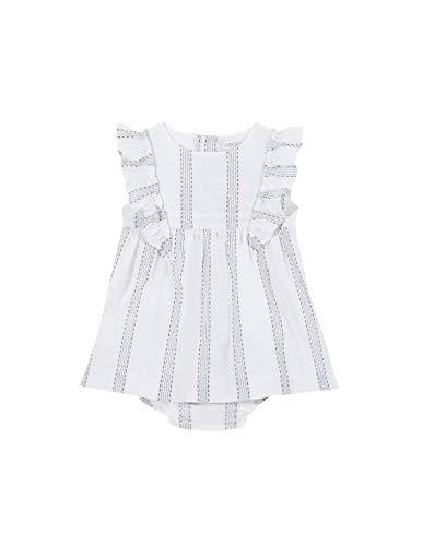 Gocco Vestido Rayas, Beige (Crudo S07vvtca903ea), 68 (Tamaño del Fabricante: T: 6/9) para Bebés