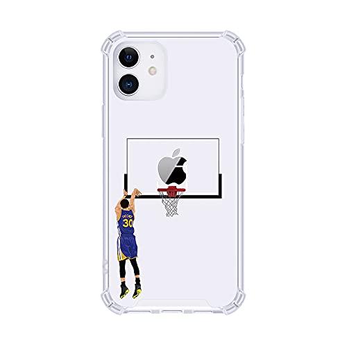 Schutzhülle für Apple iPhone (Curry, X/XS) mit Basketball-Sternen, ultradünn, kristallklar, weich, transparent