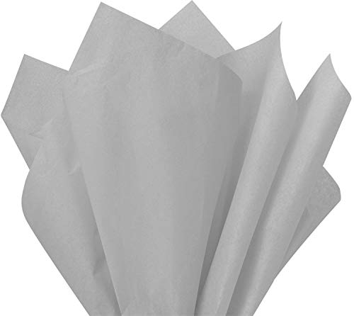 """Flexicore Packaging  Gift Wrap Tissue Paper 15""""x20"""" 100 Count (Cool Gray, 100 Sheets)"""