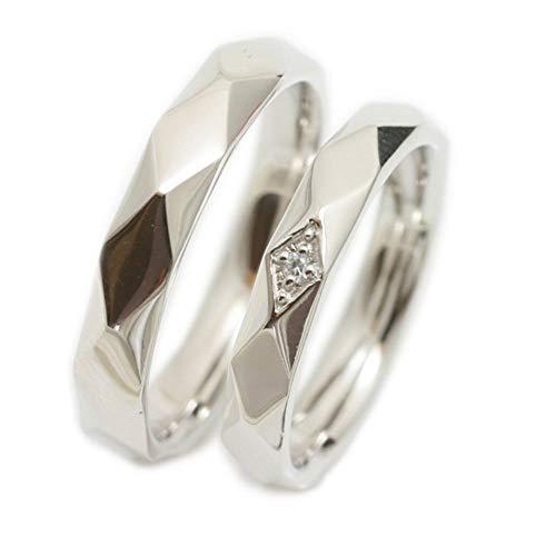 [ココカル]cococaru ペアリング 2本セット プラチナ Pt900 マリッジリング 結婚指輪 ダイヤモンド 日本製 】(レディースサイズ19号 メンズサイズ10号)