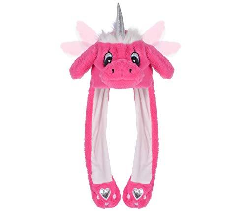 Alsino Einhorn Kappe Plüsch Party Verkleidung Tiermütze Partyhut lustige Mütze mit beweglichen Ohren Einhornohren Cosplay Zubehör für Mädchen, Pink