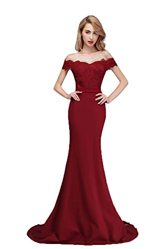 Off the Shoulder Mermaid Ankle Length Wedding Dress