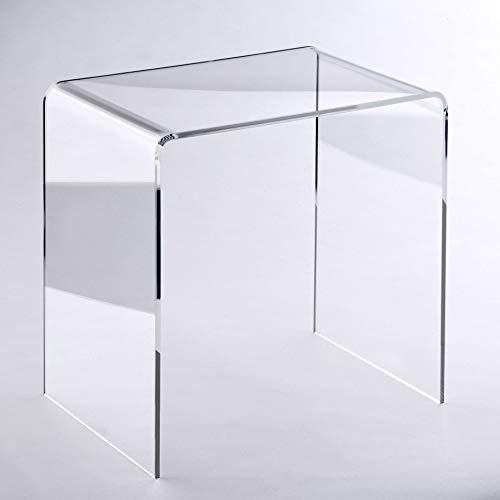HOWE-Deko Hochwertiger Acryl-Glas Beistelltisch/Nachttisch, transparent, B44 x T29,5 cm, H 42,5 cm, Acryl-Glas-Stärke 8 mm