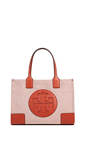 Tory Burch Women's Ella Canvas Mini Tote, Valley Orange, One Size