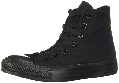 Converse Chuck Taylor All Star High Top Sneakers Black Monochrome 7 M US Women / 5 M US Men