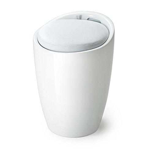 サンワダイレクト収納スツール収納ボックス座面取り外し小物収納可能持ち手付きオットマンホワイト150-SNCBOX5W
