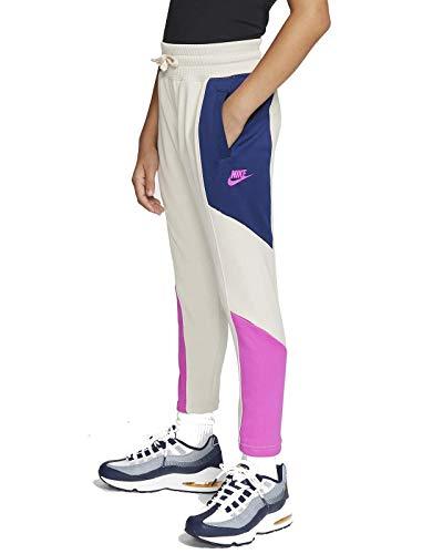 Nike Mädchen NSW Heritage Hosen, Lt Orewood BRN/Blue Void/Fire, L