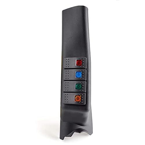 Bruce & Shark Consola de interruptor de columna A, color negro izquierdo, para Je-ep Wrangler JK 2007-2017