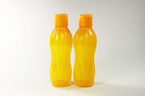 Tupperware To Go Eco 750ml Botella para Beber Naranja con Cierre de Clip (2) 37116