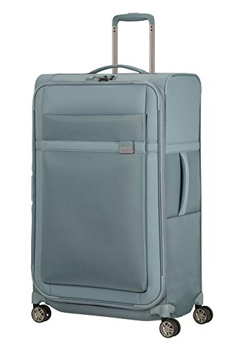 Samsonite Airea Luggage- Suitcase, Spinner L Expandable (78 cm - 120 L), Blue (Smoke Blue)