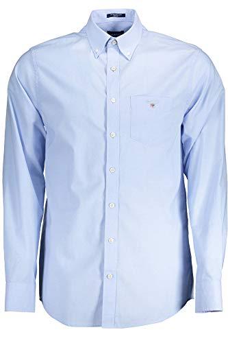 GANT The Broadcloth Reg BD Camicia Button-Down, Hampton Blue, 4XL Uomo