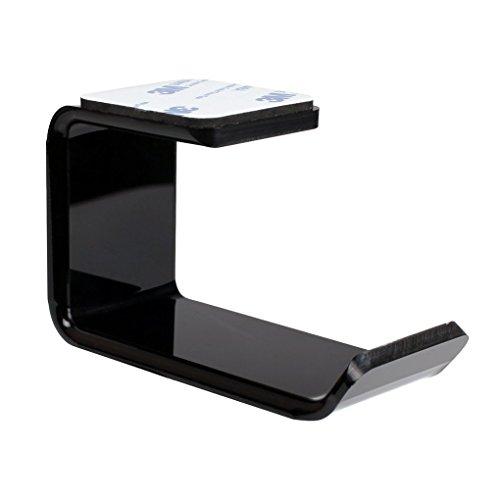 Aiming 3M Etiqueta engomada de acrílico del Auricular del Soporte de suspensión Debajo del Escritorio montado en la Pared Soporte para el Auricular del Auricular Gancho pegajoso Soporte de exhibición