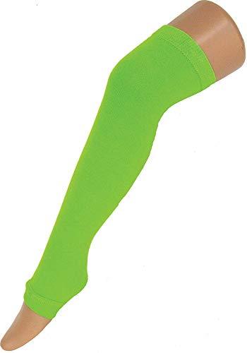 Das Kostümland Neon Overknee Stulpen - Fluo Grün