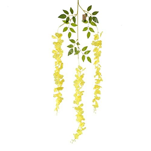 Ironhorse 12 st konstgjorda blommor vinstockar, falska blåregn, lång vägggirlang silke hängande blommor för familjesammankomst bröllop takdekoration