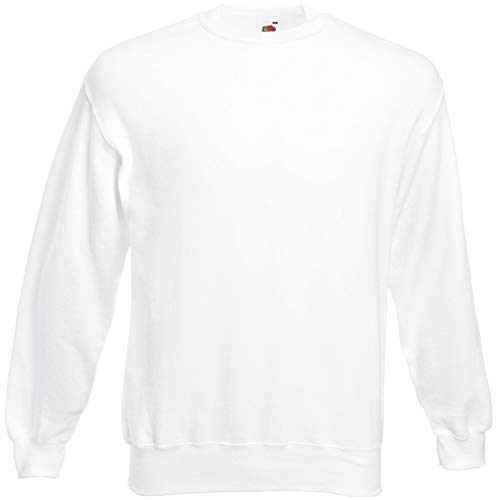 Fruit of the Loom Herren 62-202-0 Sweatshirt, weiß, L