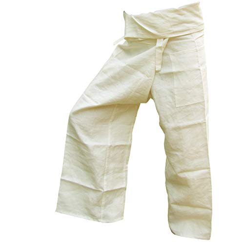 PANASIAM Fisher Pants, 100% Hemp, Cremeton