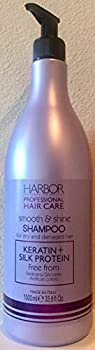 Harbor Natural Cosmetics Professional Smooth & Shine Shampoo with Keratin plus Silk Protein 33.8 Oz Made in Italy.