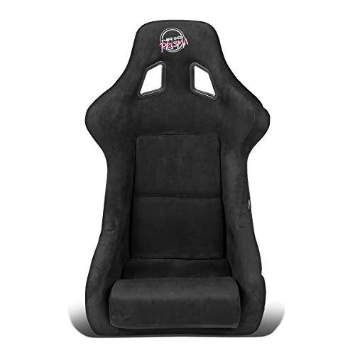 NRG Innovations FRP-302BK-PRISMA Large Size Fiber Glass Bucket Racing Seat Black Alcantara