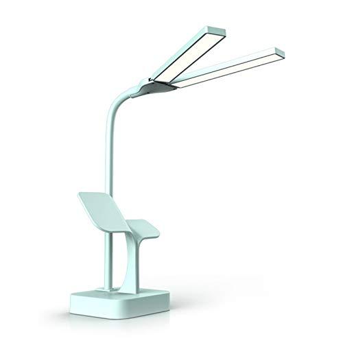 ZRN Luces de Mesa LED para Escritorio, atenuación Continua de Control táctil, Cabezal de lámpara Doble Ajustable en 180 ° sin lámpara de Oficina Fantasma