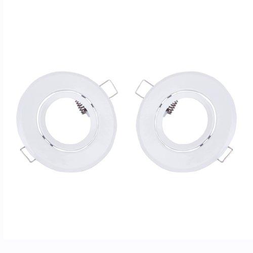 gazechimp 2pcs gu10MR160vaso bombilla halógena LED soporte para foco luz empotrado en techo, blanco, 1