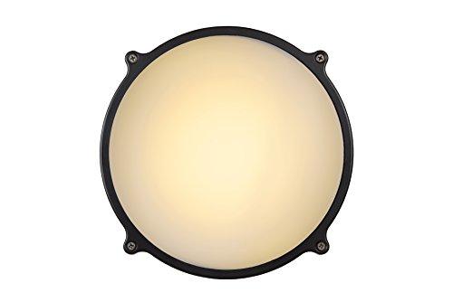 Lucide 14810/26/36 Hublot LED Applique Murale Extérieur, Aluminium, intégré, 26 W, Anthracite, 24,5 x 24,5 x 8 cm