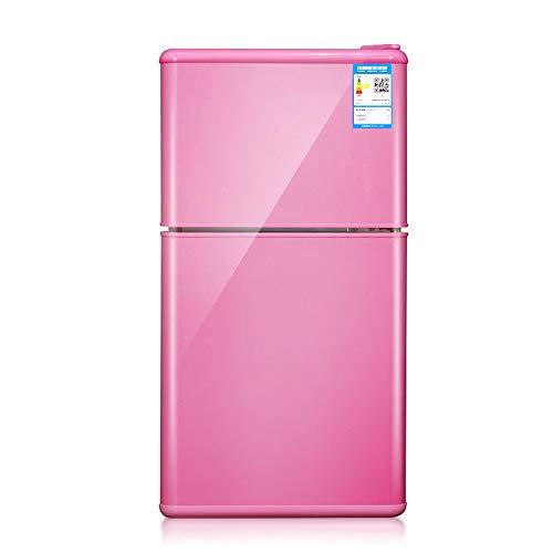 La estrella del bebé 50L refrigerador estándar, hotel mini bar, enfriador de agua, enfriador de vino, mesa de la cocina, escritorio de oficina, dormitorio, rosa [Energía grado A ++ +],Pink