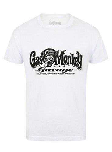 Gas Monkey Garage T-Shirt OG Logo, Größe:3XL, Farbe:White