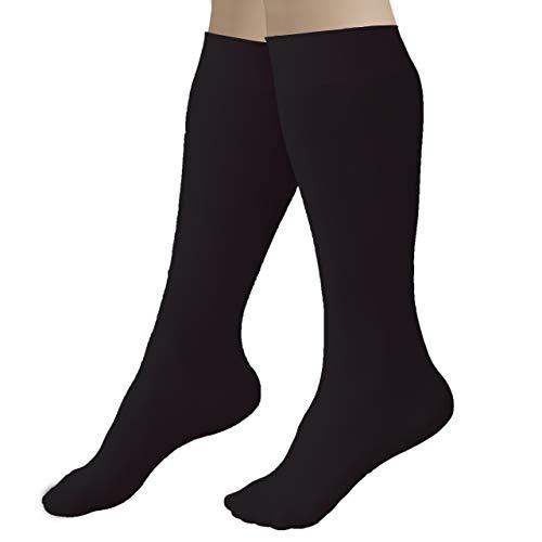 CRS Cross Figure Skating Socks, Kniestrümpfe für Schlittschuhe mit Fuß, Skate Socken, Tanzstrumpfhose - - Einheitsgröße
