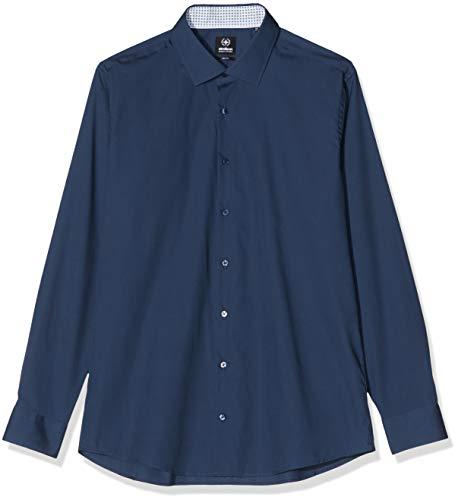 Strellson Premium Herren Santos-CC Businesshemd, Blau (Dark Blue 401), (Herstellergröße: 38)