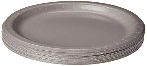 Creative Converting DINNER PLATE, 9 in, 24 ct, Gray