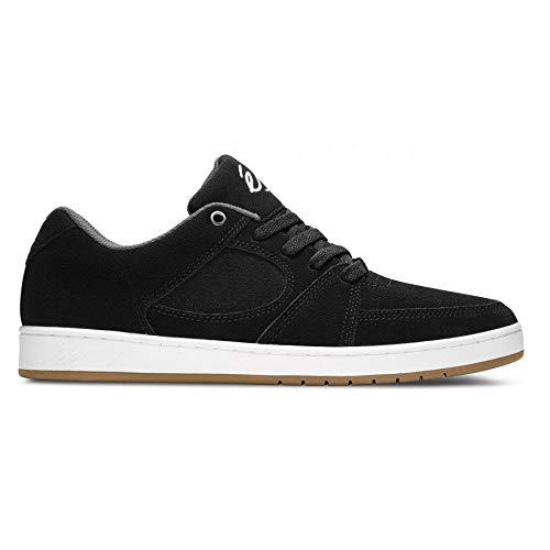 Zapatos Es Accel Slim Negro-Blanco Suede (Eu 42 / Us 9 , Negro)