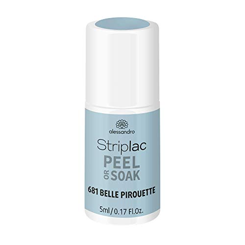 alessandro Striplac Peel or Soak Frozen Ballet - BELLE PIROUETTE - LED-Nagellack in hellblau- Für perfekte Nägel in 15 Minuten, 5ml