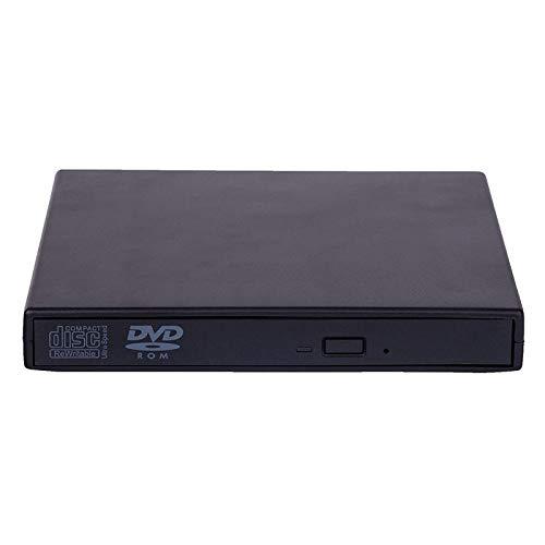 Redcolour® - Lector de CD y DVD Externo (USB 2.0, Lector de CD, RW, para Ordenador portátil)