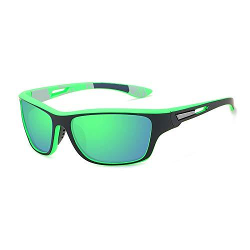 Polarisierte Sportbrille Sonnenbrille Herren Fahrradbrille mit UV400 Schutz für Damen & Herren Autofahren Laufen Radfahren Angeln Golf Sonnenbrille (Grün)