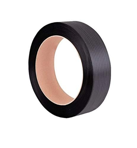 Reggia Reggetta In plastica Polipropilene Nera Ppl 15x0,8 in Rotolo da 1500 mt, diametro interno 392mm