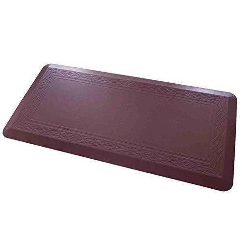 DCL LT Anti-Müd-Matte - Dicke dauerhafte Küche stehender Fußbodenmatte - gepolsterte Pad für Küche, Boden, Zuhause, Büro, Schreibtisch, Waschbecken, Wäscherei wasserdicht & leicht zu reinigen,Rot,XL