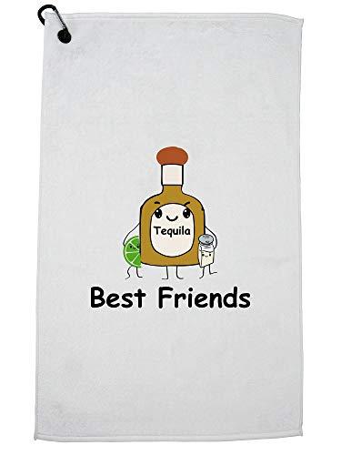 Hollywood Thread Beste Vrienden Tequila Zout en Limoen - Drinken Grafische Golf Handdoek met Karabijnhaak Clip