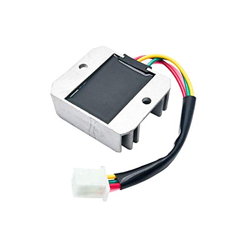 PRINDIY Regulador de Voltaje Universal de 12 V CA, regulador de 4 Cables rectificador para Motocicleta, Bicicleta, Quad