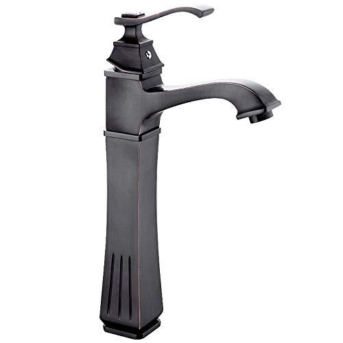 WLXJDJ Todo cobre encimera lavabo lavabo cascada grifo baño caliente y frío solo agujero