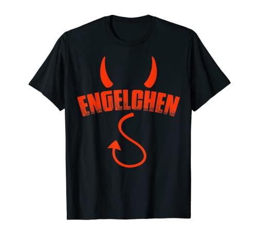 Engelchen Engel Teufelchen Teufel Kostüm Halloween Geschenk T-Shirt