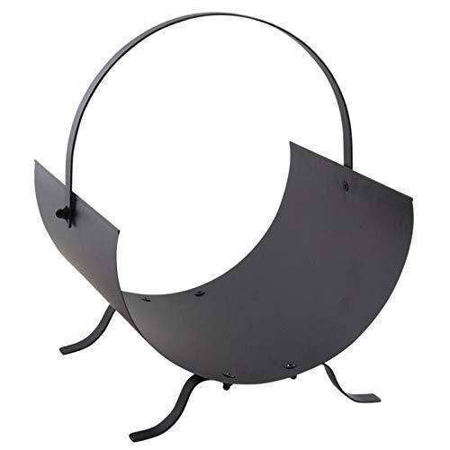 Inconnu Porte-bûches en métal Noir
