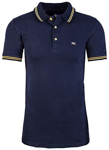 Rock Creek Herren Polo T-Shirts Basic Shirt Kurzarm Poloshirt Polohemd Slim Fit Sommer Shirts Männer T Shirt Top Polokragen H-177 Navy M