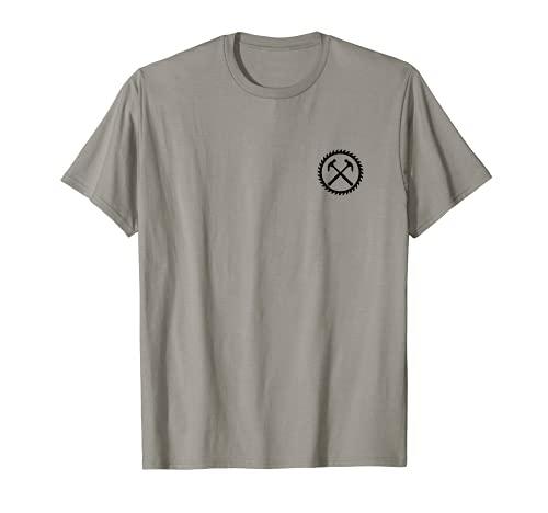 Sierra circular de carpintero, martillo Camiseta