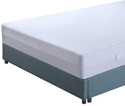 Utopia Bedding Premium Matratzenschoner mit Reißverschluss - Wasserdichter Matratzenschoner - Matratzenhöhe 15-25 cm - Schutz vor Flüssigkeiten, Insekten und Milben (90 x 200 cm)
