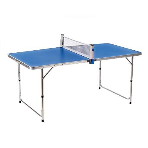 Enrico Coveri Tavolo Ping Pong Pieghevole Completo Di Racchette e Pallina Con Struttura in Alluminio, Perfetto Per Interno e Esterno (Blu)