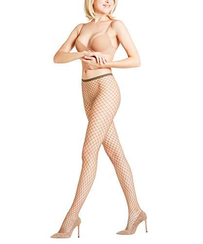FALKE Damen Strumpfhosen Classic Net, Transparente, Matt, 1 Stück, Grün (Military 7826), Größe: M-L