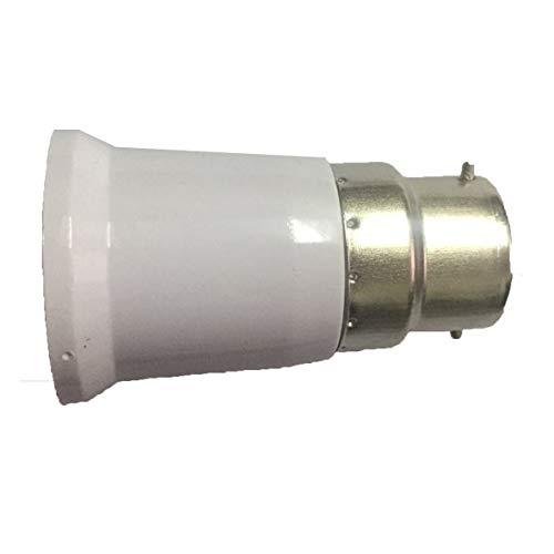 Heaviesk Praktische B22 bis E27 Fassung Glühlampensockel Professionelle Lampenfassung Adapter Durable Home Lampenfassung Haushaltslicht Zubehör
