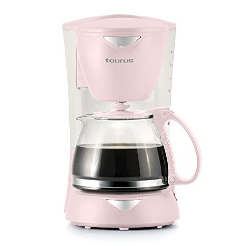 TAURUS COFFEEMAX 6 RIBBON Cafetera de Goteo, Filtro Permanente, Sistema Anti-Goteo, 800 Ml, Placa Calefactora, 650 W